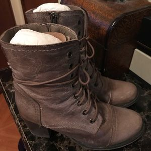 Steve Madden Ankle Boot with Side Zipper & Laces